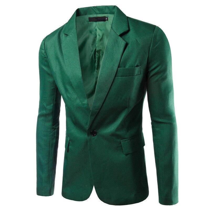 AI men WANT, новинка, 8 цветов, мужские тонкие свадебные костюмы для жениха, для подростков, модный синий деловой костюм, пиджаки, мужские, винно-красные блейзеры - Цвет: grass green