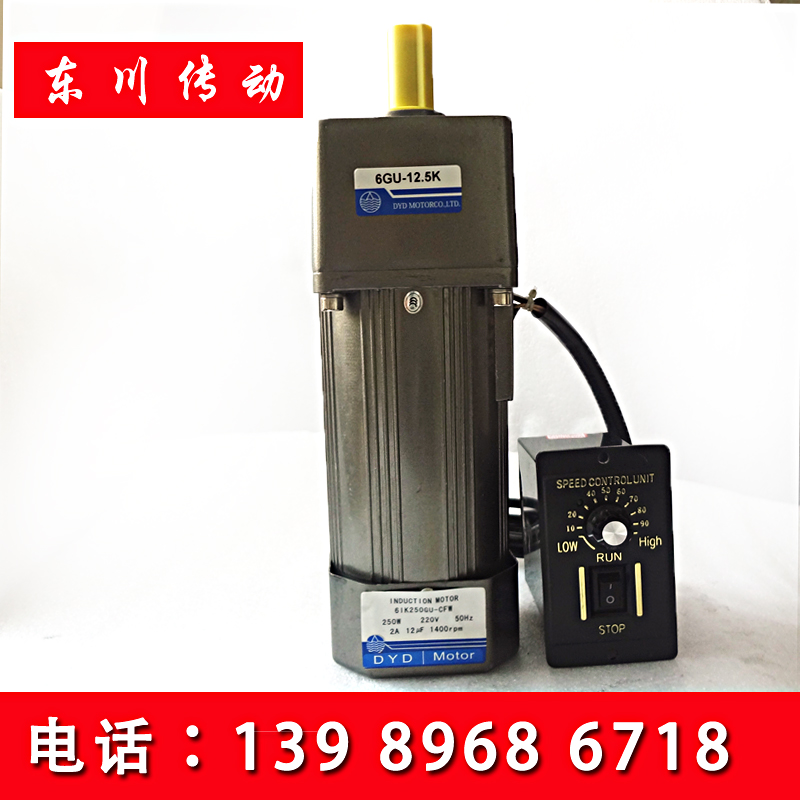 AC 250W 220V/380V Asynchronous Geared Motor Speed Control Motor