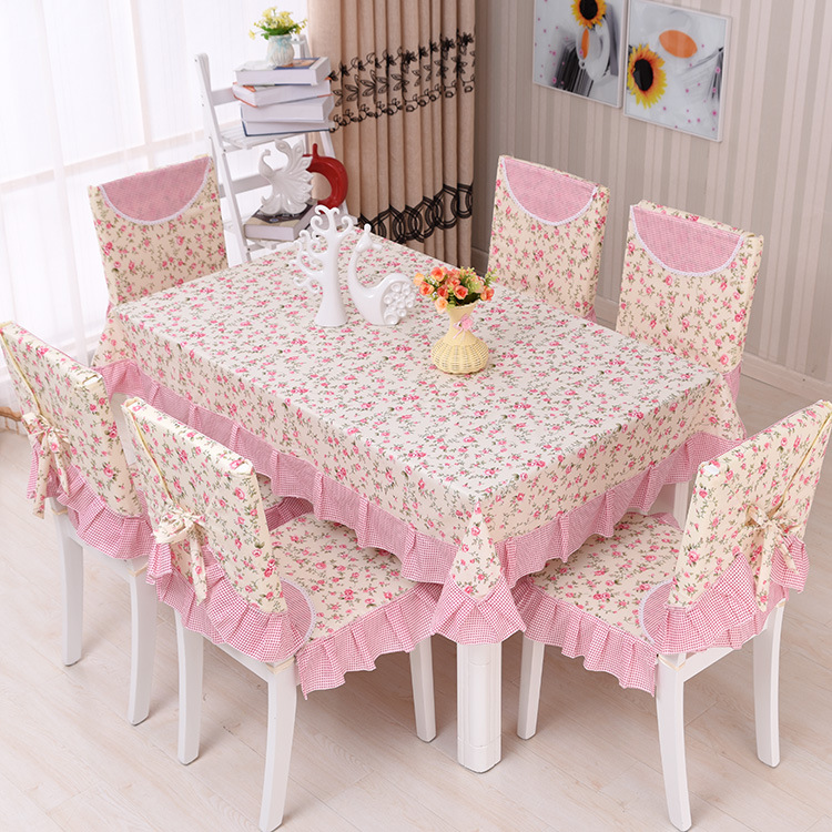 Floral Pastoral Photo Printing Tablecloth Set Suit 130*180cm Table Cloth  Matching Chair Cover 3 Color 1 Set Price In Tablecloths From Home U0026 Garden  On ...