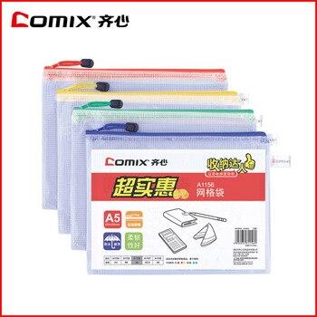 ตารางA1155พีวีซีตารางComixถุงซิปถุงซิปกระเป๋าเอกสารเครื่องใช้สำนักงานเครื่องเขียนB5 5ชิ้น/เซ็ตจ...