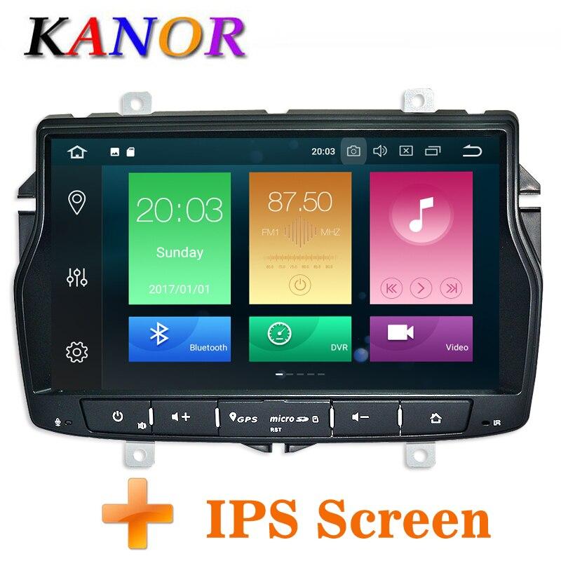 KANOR Android 8,0 Octa Core ips 4 + г 32 г 2din автомобиля Радио DVD плеер для Лада Веста С Wi Fi SWC Bluetooth двойной din мультимедийный ПК