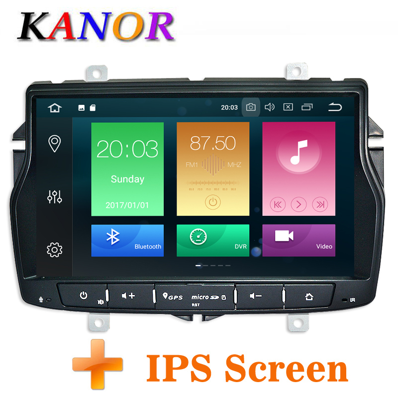 KANOR Android 8.0 Octa Core IPS 4+32g 2din Car Radio DVD Player For Lada Vesta With WIFI SWC Bluetooth Double din multimedia PC
