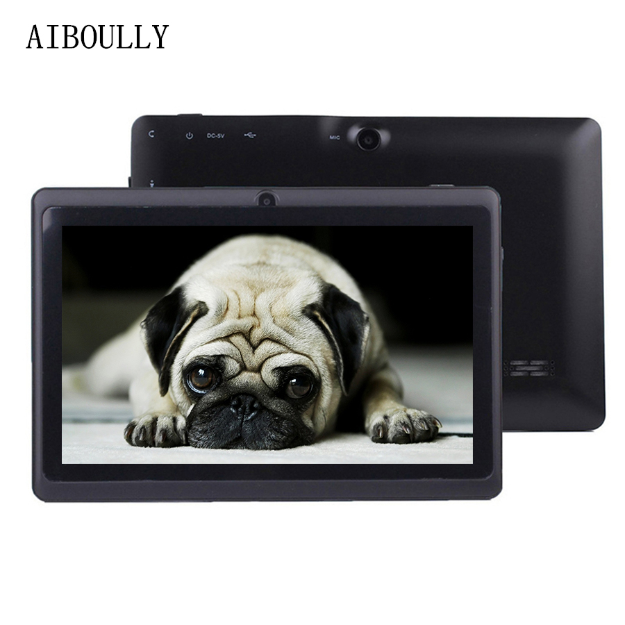 AIBOULLY Brand New 7 inch Android 6 Tablets Quad Core 1GB Ram 8GB 6.0 OS WiFi Tablet pc OTG Stylus Pen Rubber case Draw Tab 7AIBOULLY Brand New 7 inch Android 6 Tablets Quad Core 1GB Ram 8GB 6.0 OS WiFi Tablet pc OTG Stylus Pen Rubber case Draw Tab 7