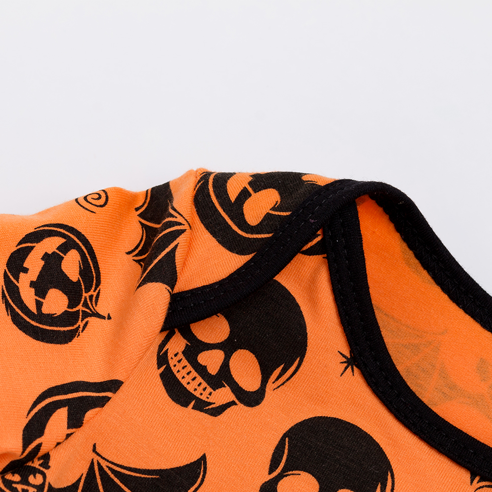 YK Loving Halloween Bat Print Baby Rompers for 0 2 Year Boy Girl 2019 High Quality Infant Clothing Pumpkin Printed Outfit in Rompers from Mother Kids