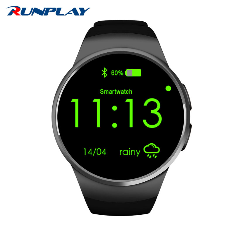 Heart Rate Monitor Smart Watch KW18 SIM TF Bluetooth Smartwatch Android 2.5D OGS Touch Screen Smart Wristwatch Facebook Buit fashion heart rate monitor smart watch sim tf smartwatch android 2 5d ogs touch screen smart wristwatch bluetooth facebook buit