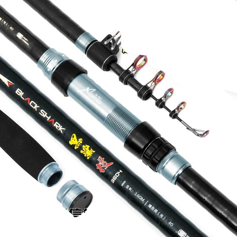 Carbon Fiber Distance Throwing Rod Fishing Rod long section super hard rod fishing pole 3.6/3.9/4.2/4.5/5.4m Fishing Tackle цена