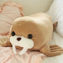 Lovely Software Walrus Plush Toy Stuffed Marine Animal Doll Soft Plush Pillow Children Birthday Gift цена 2017