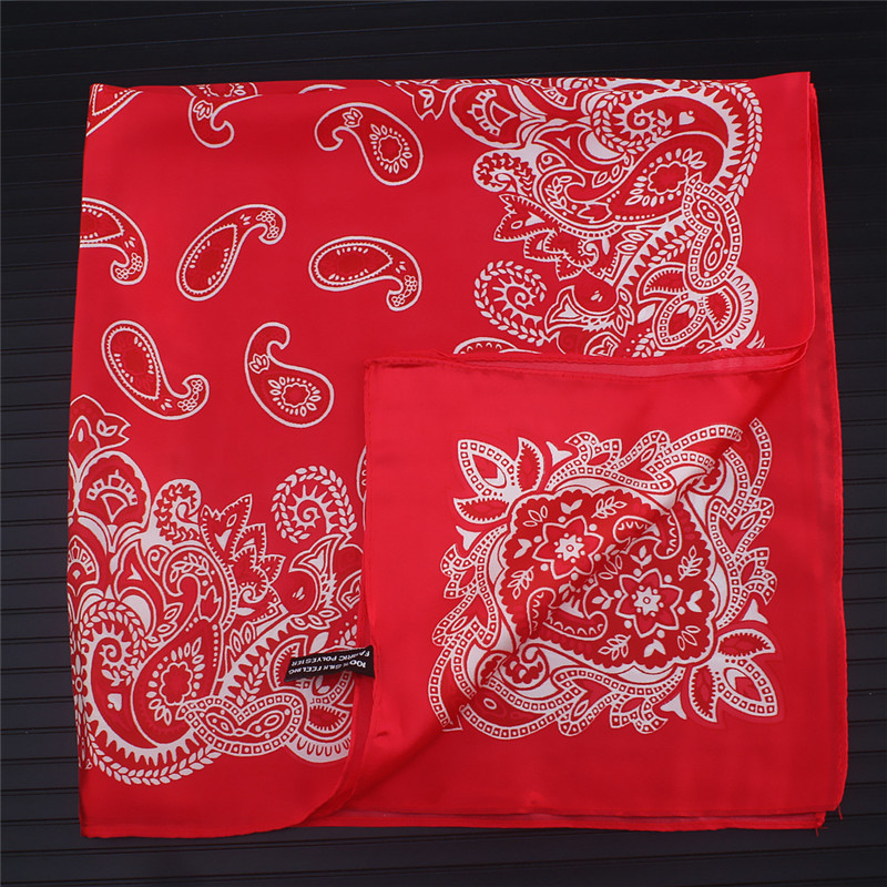 Paisley Silk Scarf Bandanna Women Scarf Fashion Square Scarves Silk Feelling Scarf Head Neck Tie Band Professional Neckerchief