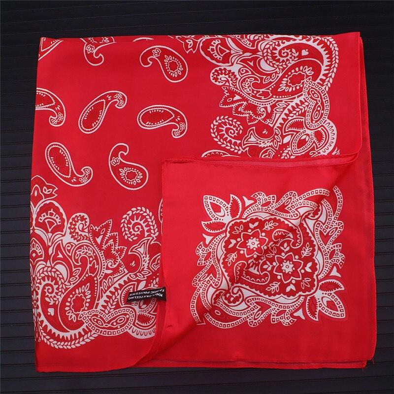 Paisley Silk Scarf Bandanna Women Scarf Fashion Square Scarves Silk Feelling Scarf Head Neck Tie Band Professional Neckerchief