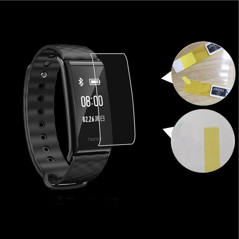 2pcs Anti-shock Soft TPU Ultra Clear HD Protective Film For Huawei Honor Band A2 Smart Wristband Full Screen Protector Cover