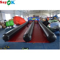 Sayok Double Lanes 10x3M Inflatable Bowling Lanes Set Game Interactive Bowling Alley Outdoor Sports Game for Entertainment