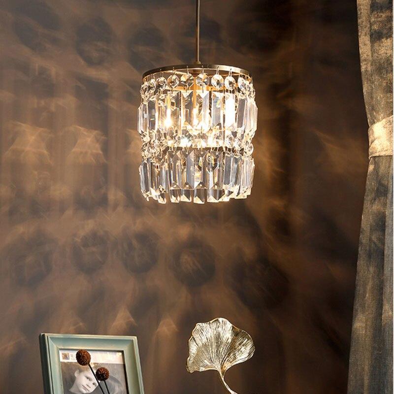 Moderne anhänger lampe esszimmer kristall anhänger lichter für bar Minimalistischen kristall lampe schlafzimmer nacht licht kristall leuchten küche