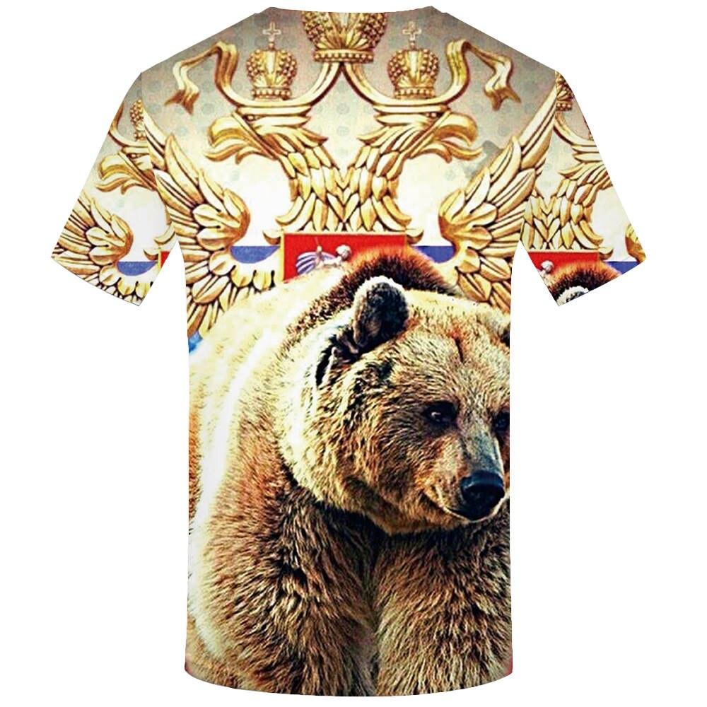 KYKU Brand Russia T Shirt Men Russian Flag T-Shirt Bear Shirt 3d T-Shirt Mens Clothes Fitness Tshirt Rock Hip Hop 2019 Tee Tops