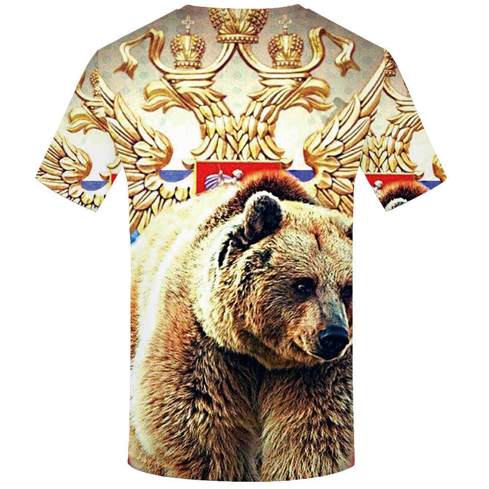 KYKU/брендовая футболка для России, Мужская футболка с русским флагом, футболка с медведем, 3D Футболка мужская, одежда, футболка для фитнеса, футболка в стиле рок, хип-хоп, 2017
