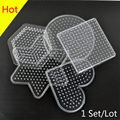 1 Lot =5 PCS Small 5mm Hama Beads Pegboard Transparent Shape Pegboards Patterns For Perler Beads DIY Kids Craft Plastic Stencil