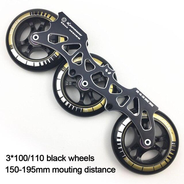 """מסגרת & 85A גלגלים ומסבים 3*100/110 מ""""מ בסיס עבור Inline גלגיליות סלאלום שקופיות החלקה עבור ילדים למבוגרים גלגיליות אגן DJ49"""