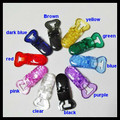 100pcs / lot Clear Plastic baby dummy Clips For Pacifier Soother/ Dummy / Nuk / MAM/ Bib / Toy Holder /Suspender