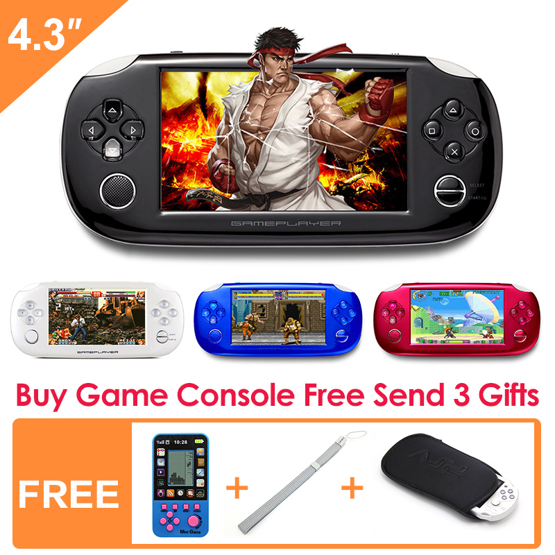 ФОТО New Style 8GB Handheld Game Console 4.3 Inch Portable Video Game Console Free 10000 Games for gba nes Support video music camera