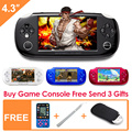 New Style 8GB Handheld Game Console 4.3 Inch Portable Video Game Console Free 10000 Games for gba nes Support video music camera