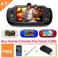 Nuevo Estilo 8 GB Consola de Juegos Portátil de 4.3 Pulgadas Portátil de Videojuegos Envío 10000 Juegos para gba nes consola de video de la Ayuda de la música de cámara