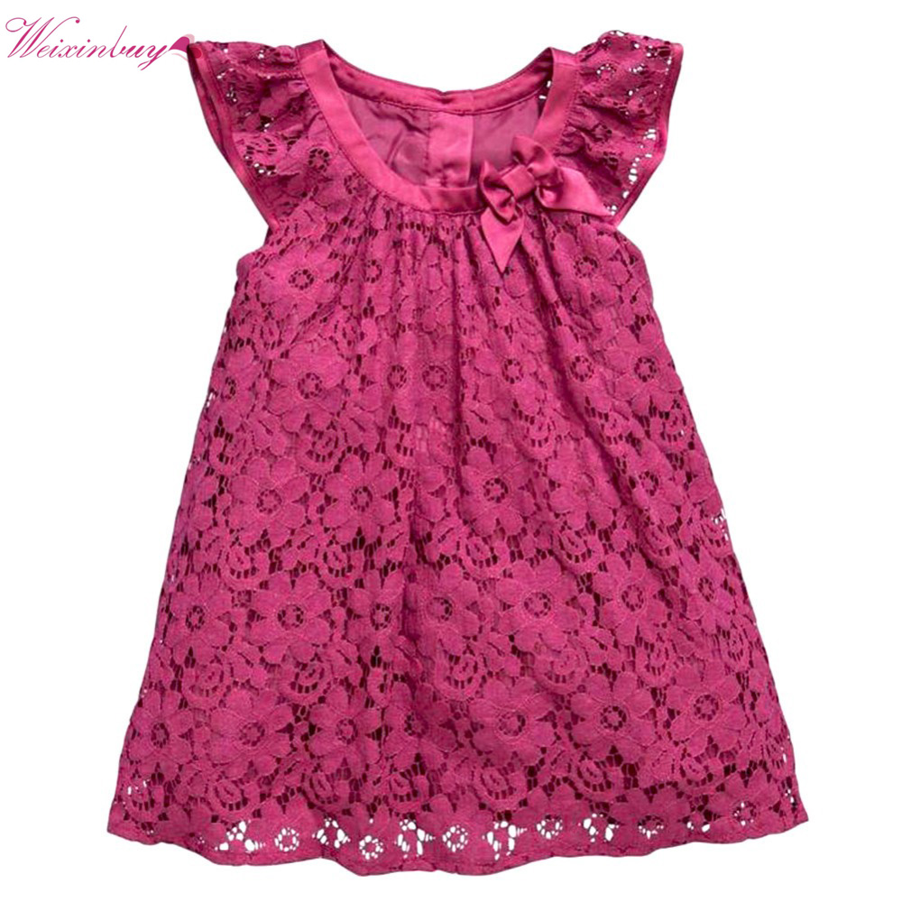 Cute Kid Baby Girl Summer Dresses Flower Lace Princess Dress Fashion Sundress unini yun 2 7t girl dress baby kids summer flower cherry backless sundress girl cotton sleeveless princess beach casual dresses