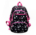 Women Backpack For Teenage Girls School Bags Rucksack kids book bag Canvas Cute Stars Printing Backpack For Children mochila
