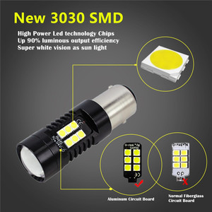 Image 4 - 2Pcs 1156 BA15S P21W LED BAU15S PY21W BAY15D LED Bulb 1157 P21/5W R5W 21pcs 3030SMD Auto Lamp Bulbs Car LED Light 12V   24V