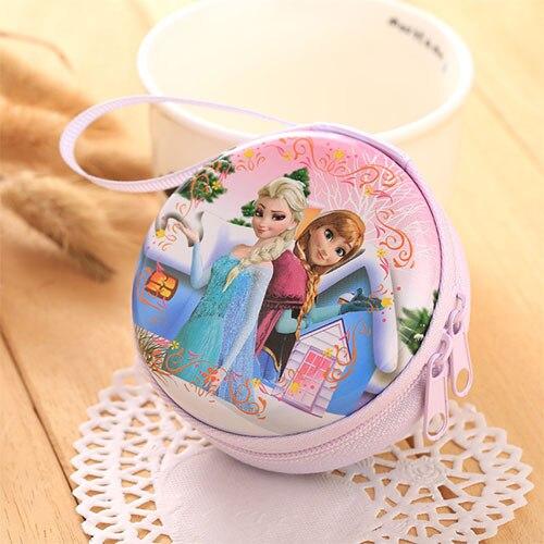Лидер продаж, кошелек для монет с героями мультфильмов, Эльза, Анна, принцесса, чехол для ключей для девочек, кошелек, детский Снежная королева, гарнитура, сумка для монет - Цвет: A