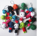 Lovely Toys Wholesale New Style Voodoo Doll Keychains little voodoo dolls Free Shipping Accessories