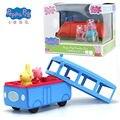 Echte Peppa Schwein Peppa der Schule Bus rot auto mit musik einschließlich Peppa und Fräulein kaninchen figuren Kinder Spielzeug GESCHENK original box-in Action & Spielfiguren aus Spielzeug und Hobbys bei