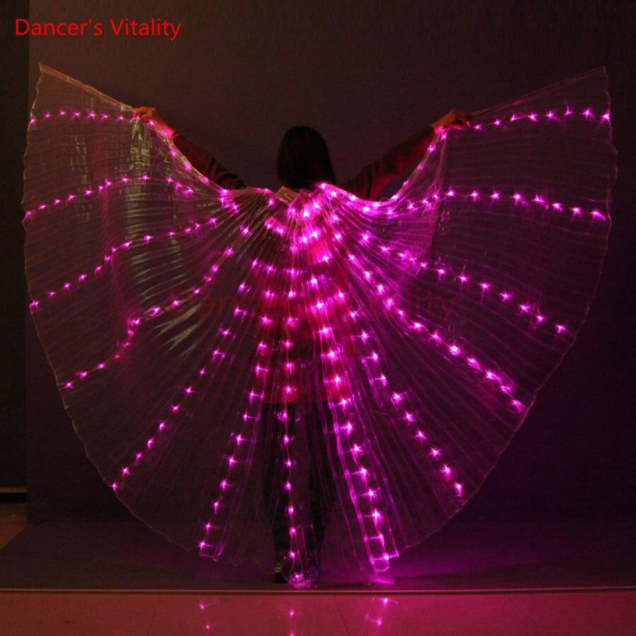 Vitalidad del bailarín LED danza del vientre 8 color ISIS para danza ...