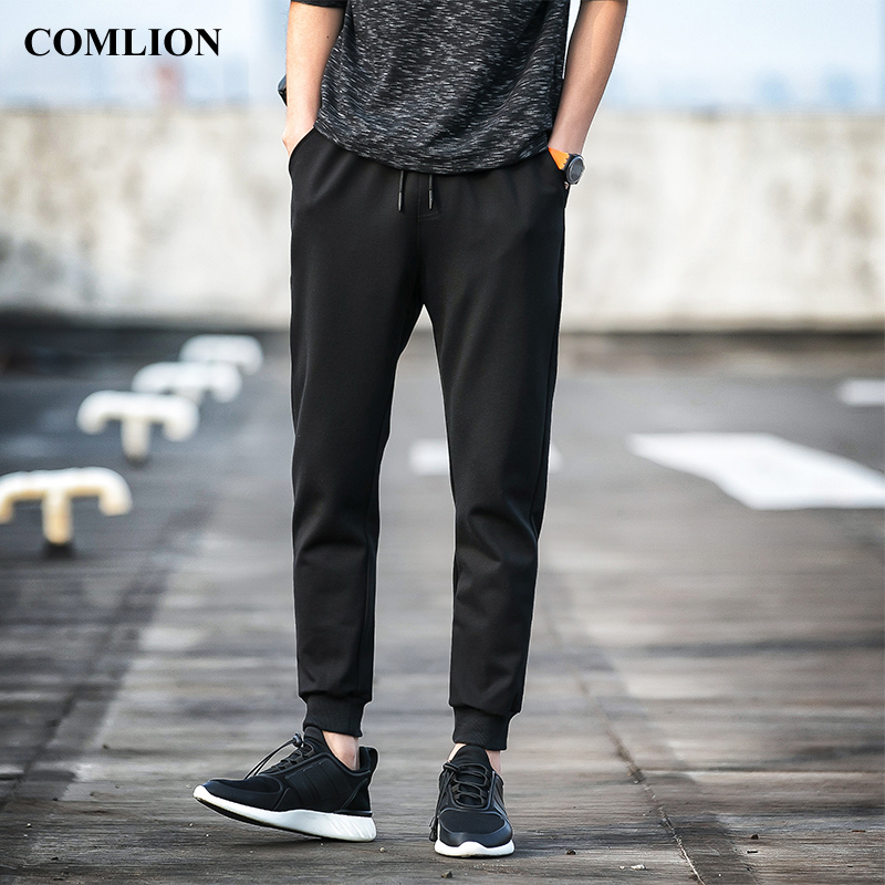 Casual Sweatpants Men 2018 New Arrival Solid Long Pants Black Fashion Male Cotton Trousers Elastic Waist Style High Quality C17