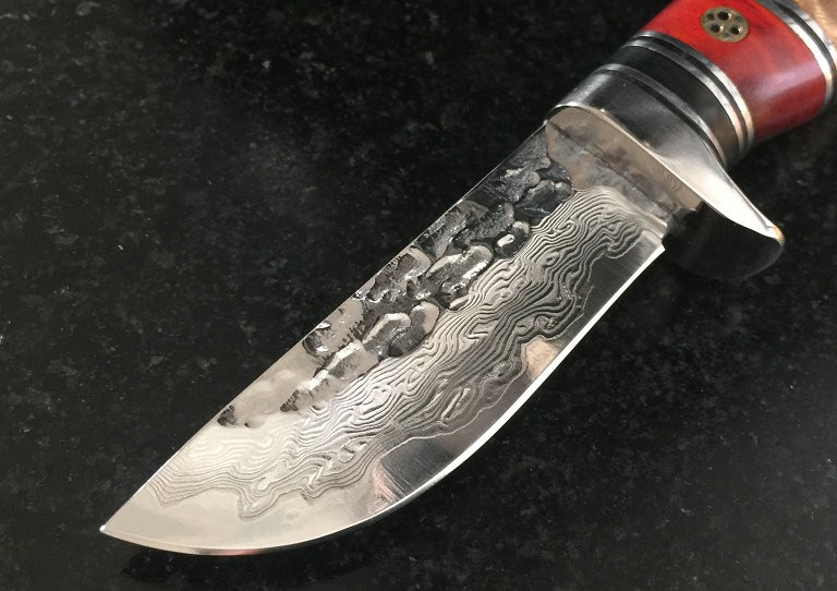 Buy Forging Damascus Collection Fixed Knives,Wooden Handle Camping Survival Knife,Hunting Knife. cheap