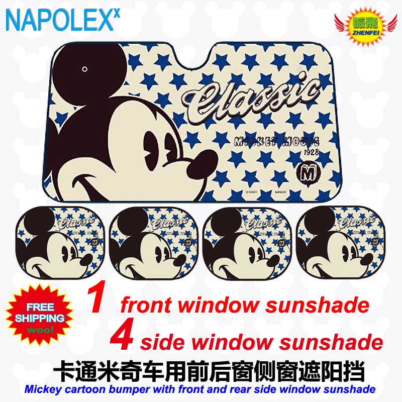 Accessories Cartoon Mickey Mouse Front Window Sunshade Foils Windshield Visor Cover UV Protect Car Film Sun Shade Freeshipping