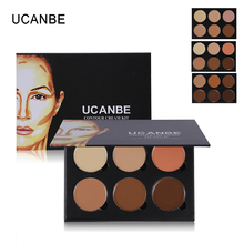 UCANBE Brand 6 Colors Concealer Palette Make Up Base Makeup Corrector Camouflage Contour Palette Highlight Face Concealer Cream