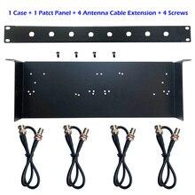 Kit détagère de support de support de micro sans fil 19 pour shure SLX4/PGX4/QLXD4/BLX288, G2/G3 support démetteur de récepteur Microfono