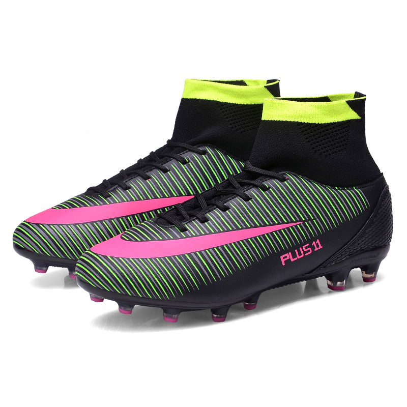 d7bdce57a48e High Ankle Men Football Shoes Newest Long Spikes Training Football Boots  Hard-wearing Soccer Shoes High ...