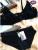 Moda Secreto de encaje romántico Sexy plunge copa sujetador de la chica joven conjunto negro sujetador y bragas ropa interior de diseño superior de las mujeres delgadas más tamaño