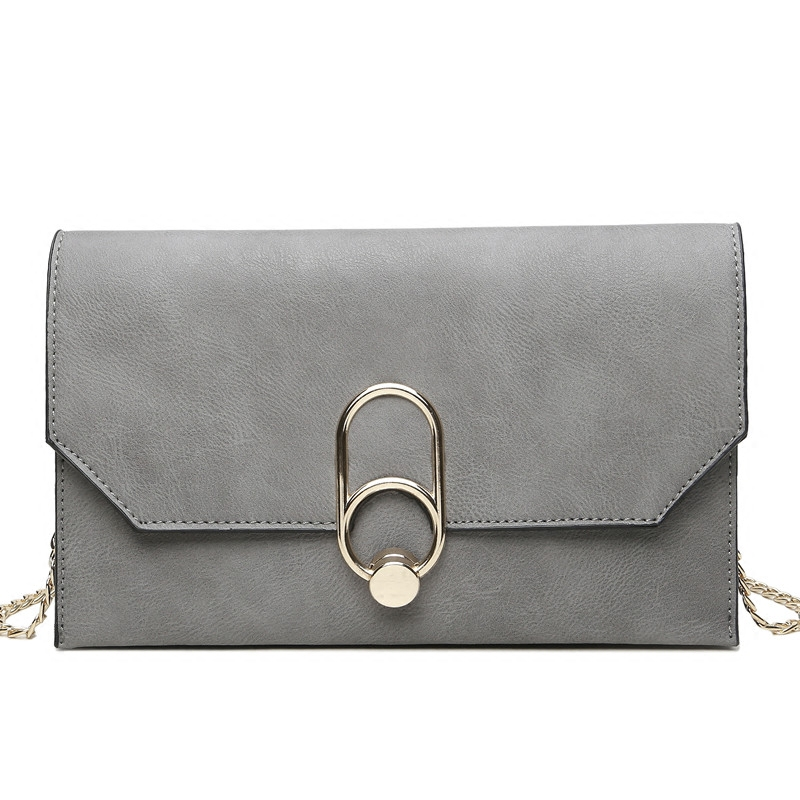 2019 New Arrival Casual Clutch Pu Day Clutches Polyester Single Fashion Women Solid Cover Soft Crossbody Handbag Women Bag(China)