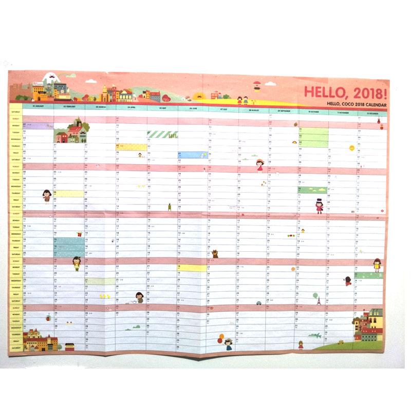 1 Stücke Nette Cartoon Wand Kalender 100 Tag Anime Yin Yang Master Kalender Kreative Schreibwaren Zeitplan Planung Papier Liefert Kalender