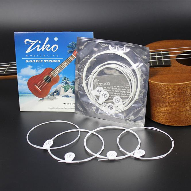 Free shipping 1 SETS ZIKO DS-21/23 ,Senior nylon ukulele strings Sets of strings for 21,23 coil senior classic counter down free shipping