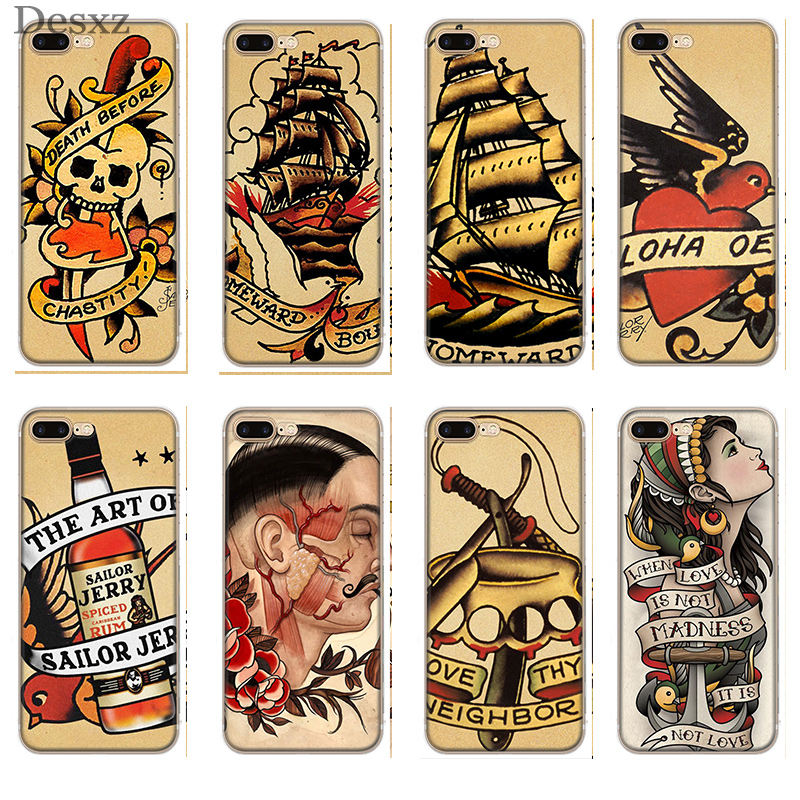 Case Cover for iPhone 8 7 6 6S Plus XS XR MAX 5 5S SE for Sailor Jerry