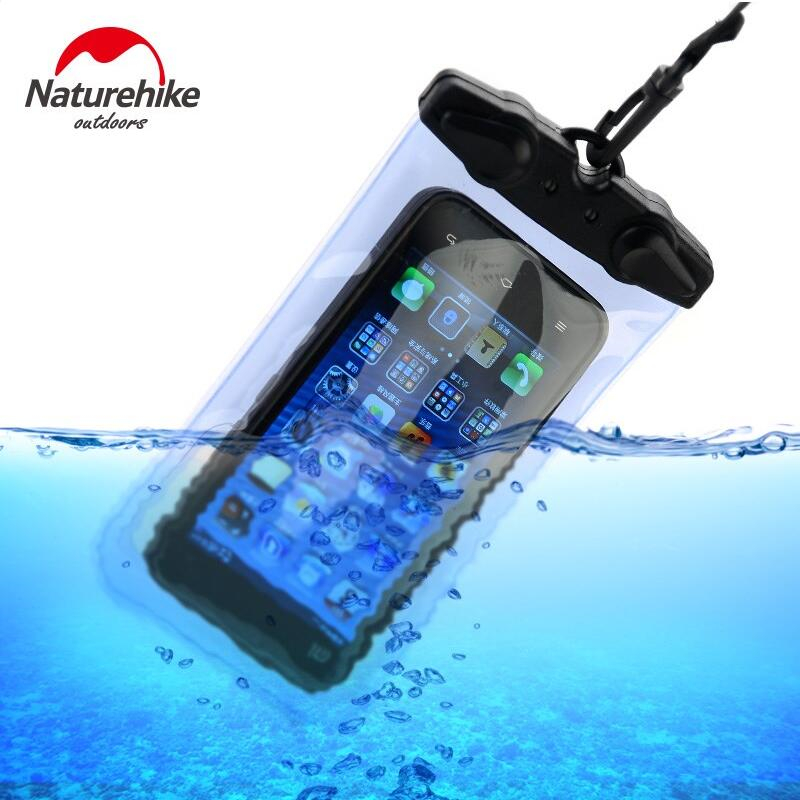 Naturehike Waterproof Bag Sealed General Diving Swimming Rafting Mobile Phone Bag Pouch Cases Cover For IPhone Samsung Huawei