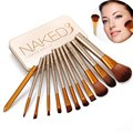 Moda Profesional 12 Unids Esencial de Belleza Pinceles de Maquillaje Maquiagem Cosméticos Accesorios Herramientas de Kit de Maquillaje Set Sombra de ojos