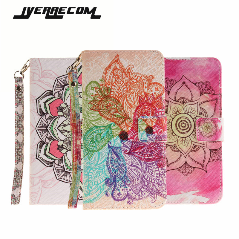 Painted Flip Case Fundas For Apple iPhone 7 Case 4.7 inch PU Leather+Silicon Wallet Stand Cover For iPhone 7 / 7Plus Phone Cases