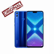 Официальный Honor 8X мобильный телефон Google Play 6,5 дюймовый экран 3750 мАч батарея Android 9,0 двойная задняя камера 20MP смартфон