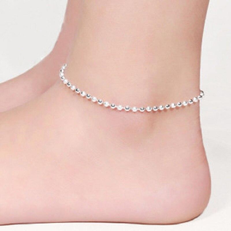 Extrêmement Argent Plaqué Bracelets de Cheville Pour Les Femmes Bracelet de  NA12