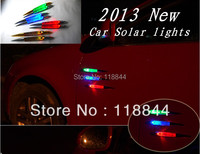 2013 NEW Solar Shark Fin Car Tail Light Vehicle Car Alarm Caution Solar Power Ranger Lamp