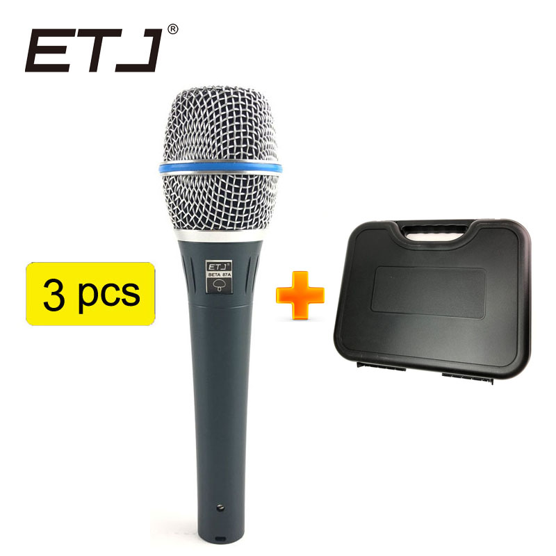 Free shipping Top Quality BETA87A Karaoke Vocal Wired Cardioid Dynamic Microphone Mike Mic For BETA87A professional Microfone