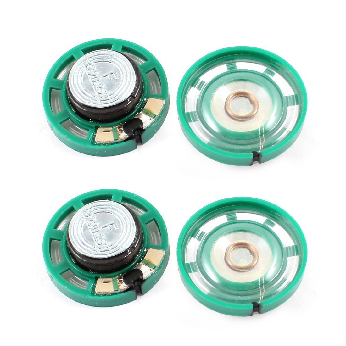 0.25 W 32 Ohm Plastic 4 Magnetic Speaker With 27 Mm Diameter Green + Silver